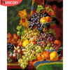 HUACAN DIY Pictures By Number Kits Home Decor Painting By Numbers Fruit Drawing On Canvas HandPainted Still Life Art Gift