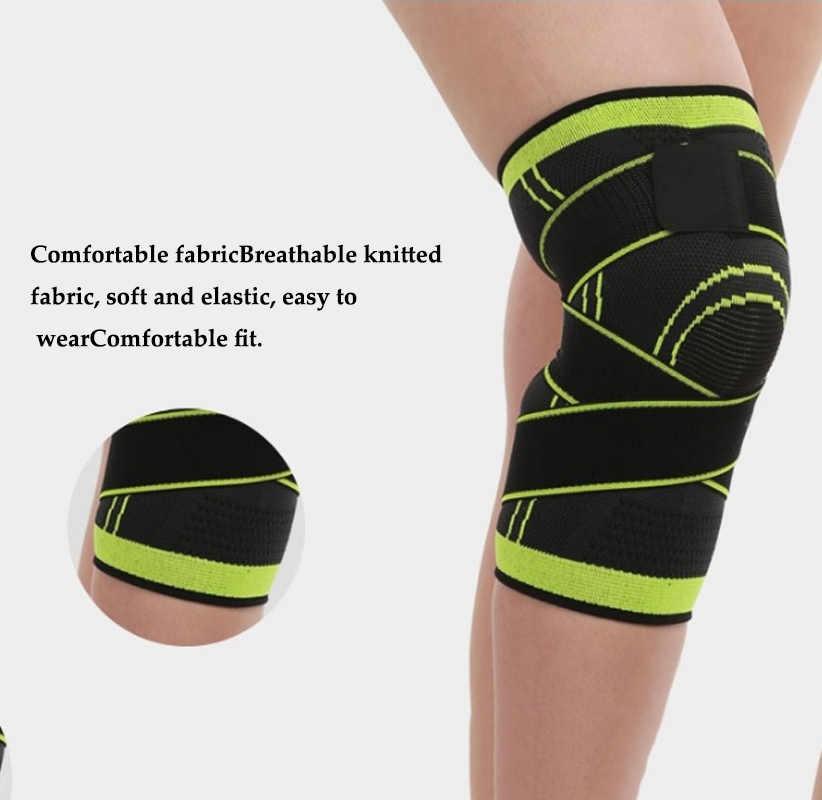 Gorąca 3D tkania stawu kolanowego wsparcie ochrony kompresji oddychające do biegania wsparcie 1pc