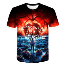 Stranger Things 3D T-shirt Men Brand Clothing O-Neck Funny Casual Summer