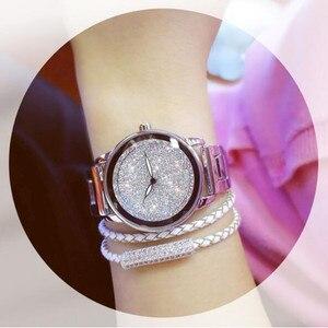 Image 4 - New Luxury Women Watches Austrian crystal Lady Dress Watch Stainless Steel Rhinestone Silver Gold Bracelet diamond Wristwatches