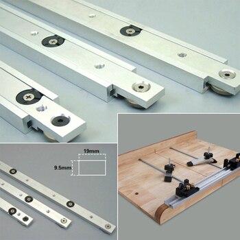 цена на Practical Miter Tool Bar Metal Silver Modification Limit Pusher Woodworking Hardware Chute Beveled Track T Tracks T Slot Slider