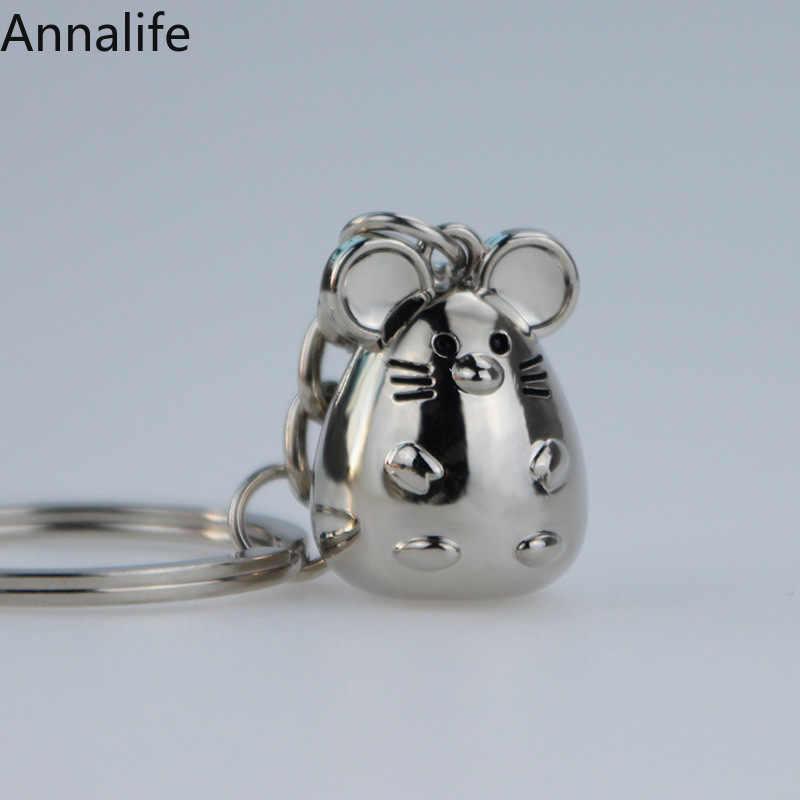 2019 rato-mouse forma chaveiro moda trinket animal carro keyfob saco pingente chaveiro chaveiro personalizado para presente feminino