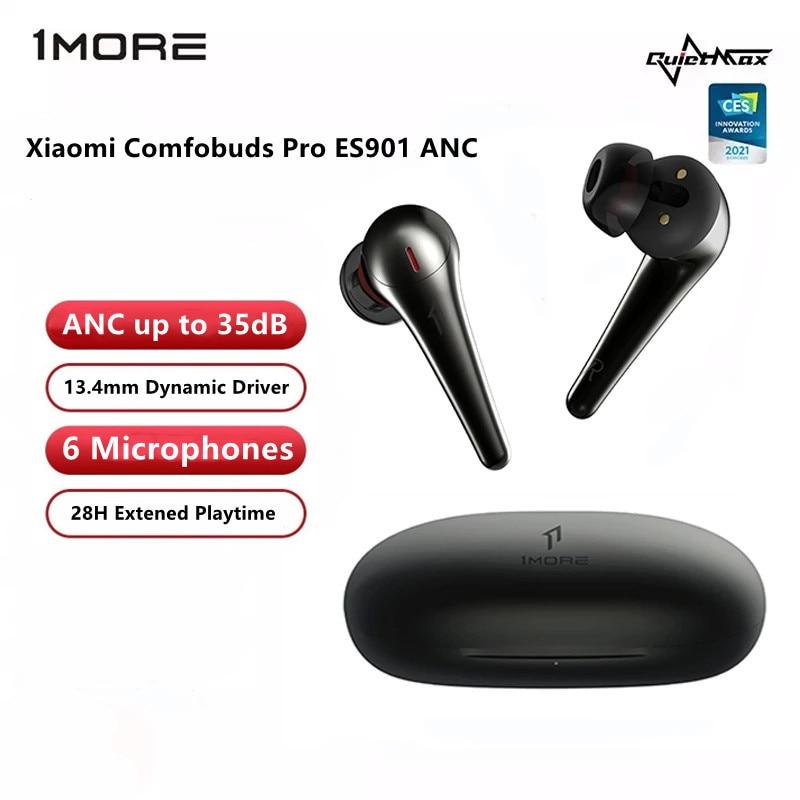 2021 CES 1MORE ComfoBuds Pro TWS True Wireless Earphones ANC 6 Microphones call Anti Noise Waterproof AAC In Ear Earphones 35DB