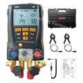 Kit de collecteur numérique de jauge de réfrigération pour Testo 557 avec sondes à pince avec Bluetooth et jauge à vide externe|Manomètre|   -