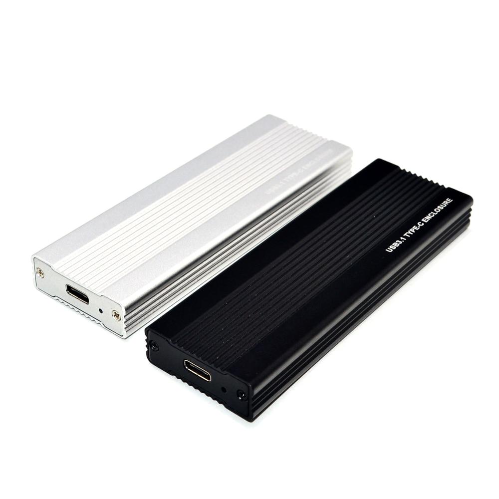 M2 SSD Case NVME USB SSD Enclosure SSD Box M.2 Case Adapter USB 3.1 Gen 2 External M 2 Box For NVME M Key 2242/2260/2280 M2 Case