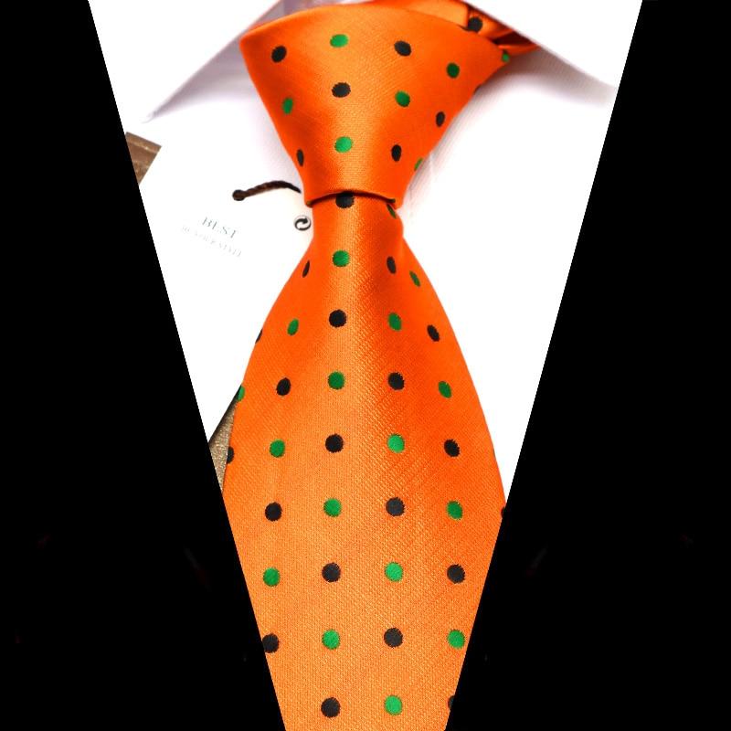 YISHLINE Men Ties 8 Cm Brand New Colorful Polka Dot WOVEN Jacquard Necktie Mens Tie 2020 Wedding Corbata Para Hombre Accessories