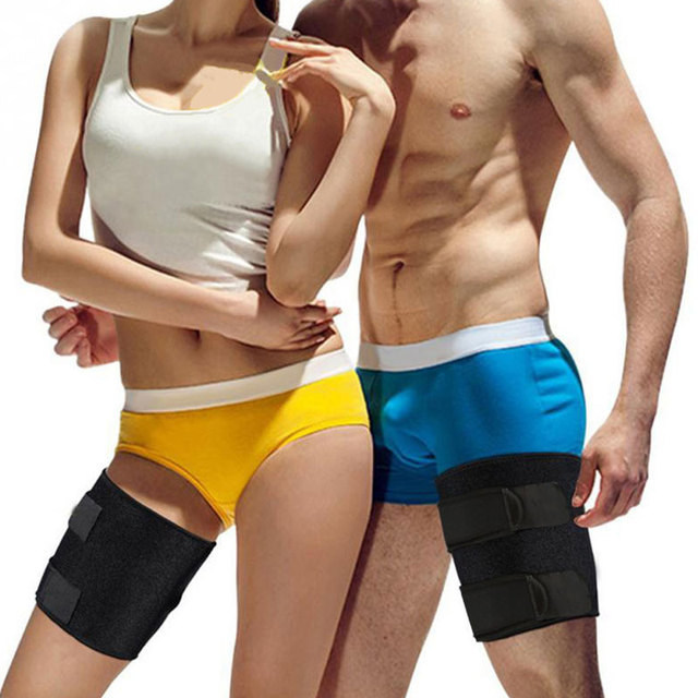 Unisex Sweat Band Leggings Thigh Slimmer Wrap Thin Leg Strap Slim Thigh Slender Slimming Belt Toned Muscles Band For Sports Run