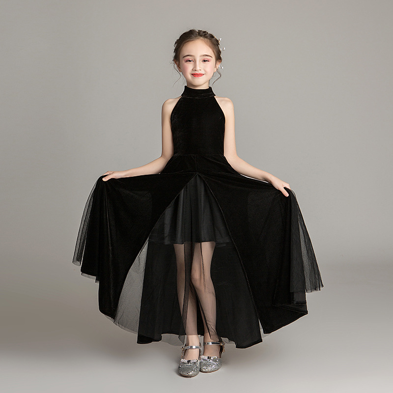 High-end Halter Flower Girl Skirt Girls Piano Costumes First Communion Dresses For Girls Pageant Dresses For Girls Dress Long