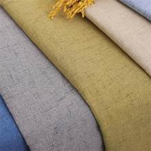 Linen Fabric Upholstery Plain Fabrics Solid Sewing Material for Sofa Textile Material for Curtain