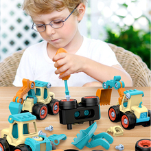Car-Model Screw Truck Bulldozer Education-Toys Creative-Tool Excavator Disassembly Unloading-Engineering