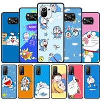 Funda de silicona con dibujos de Doraemon para Xiaomi, carcasa trasera con dibujos animados para Xiaomi Mi 10T Pro 10 11 Lite 5G 9T 11 A2 CC9 8 11 UItra CC9E 9 11X Pro