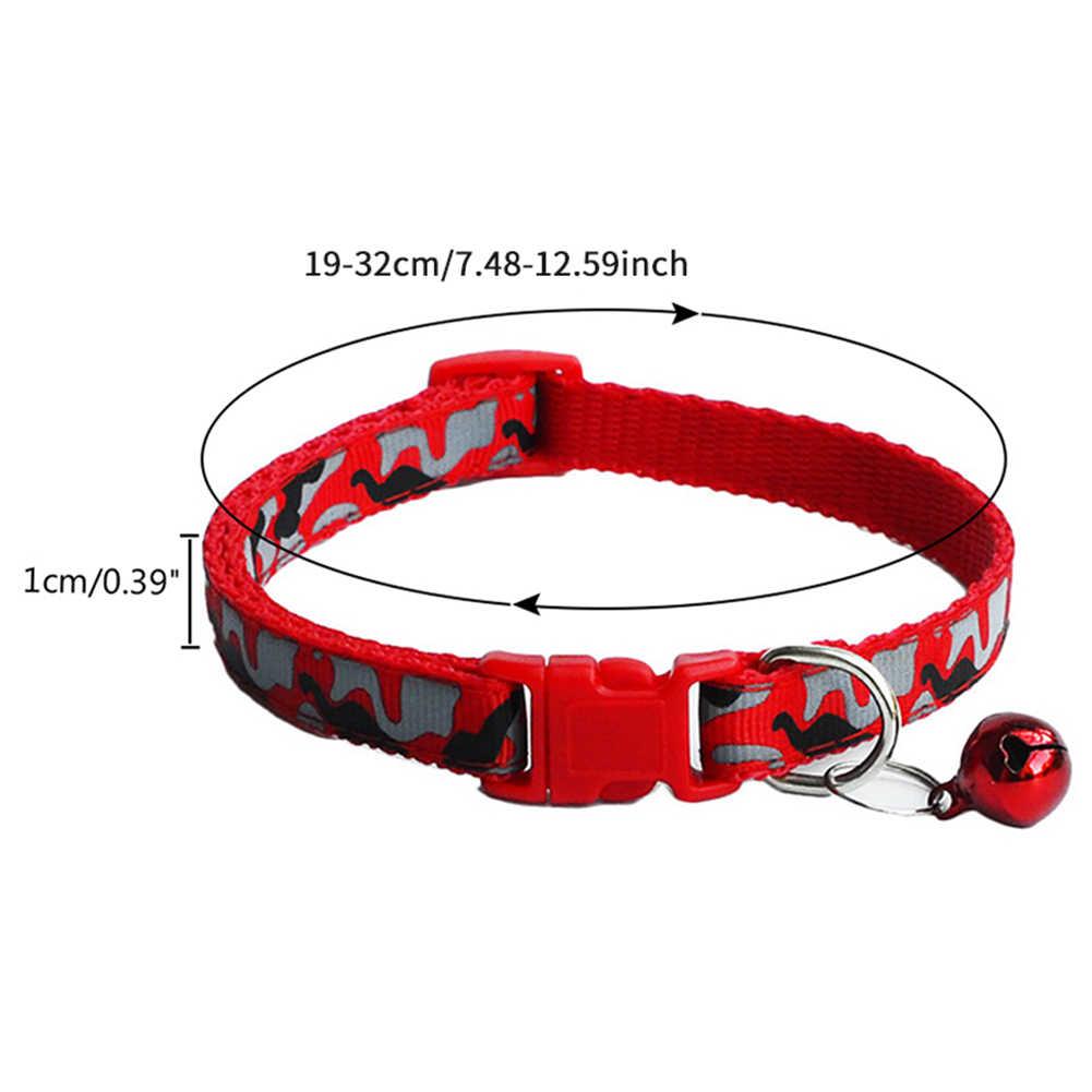 2019 猫犬首輪迷彩迷彩ストラップポリエステル調整可能な子犬動物犬の鎖安全犬用品