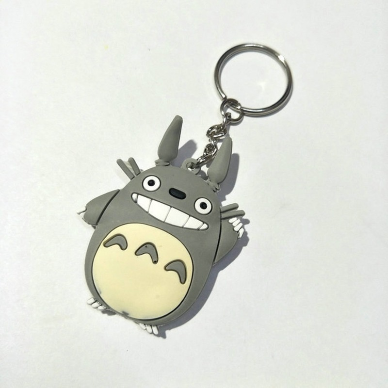 Anime My Neighbor Totoro PVC Key Chain Man Miyazaki Hayao Classic Cartoon Silicona Para Keychain Pendant Jewelry Kids Chaveiros