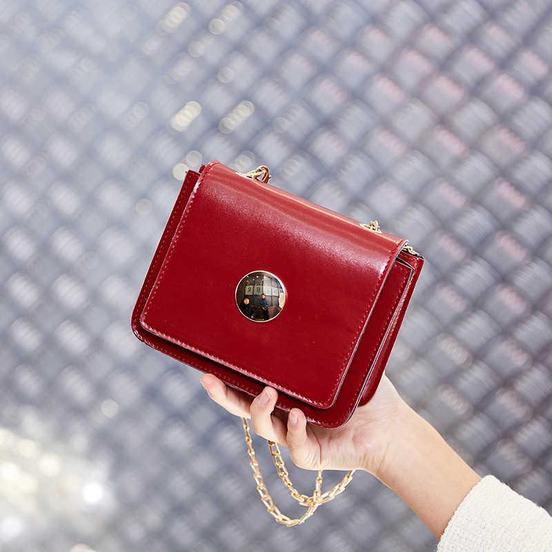 Летние брендовые сумки женские кожаные сумки цепь маленькая женская сумка-мессенджер карамельный цвет женская сумка на плечо вечерние кошелек с замком