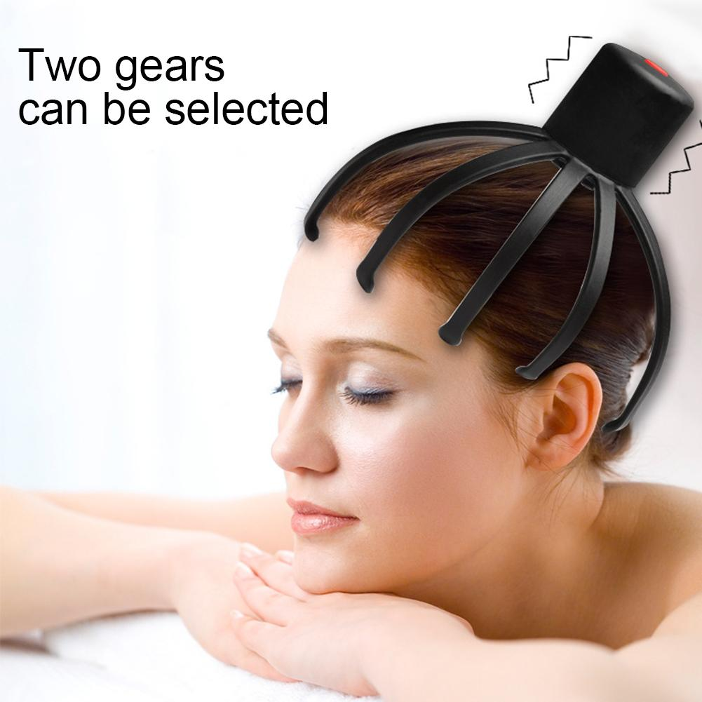 Octopus Claw Electric Scalp Massager Stress Relief Therapeutic Head Scratcher 3 Kinds Of Usage: Respectively Is Face, Body, Head