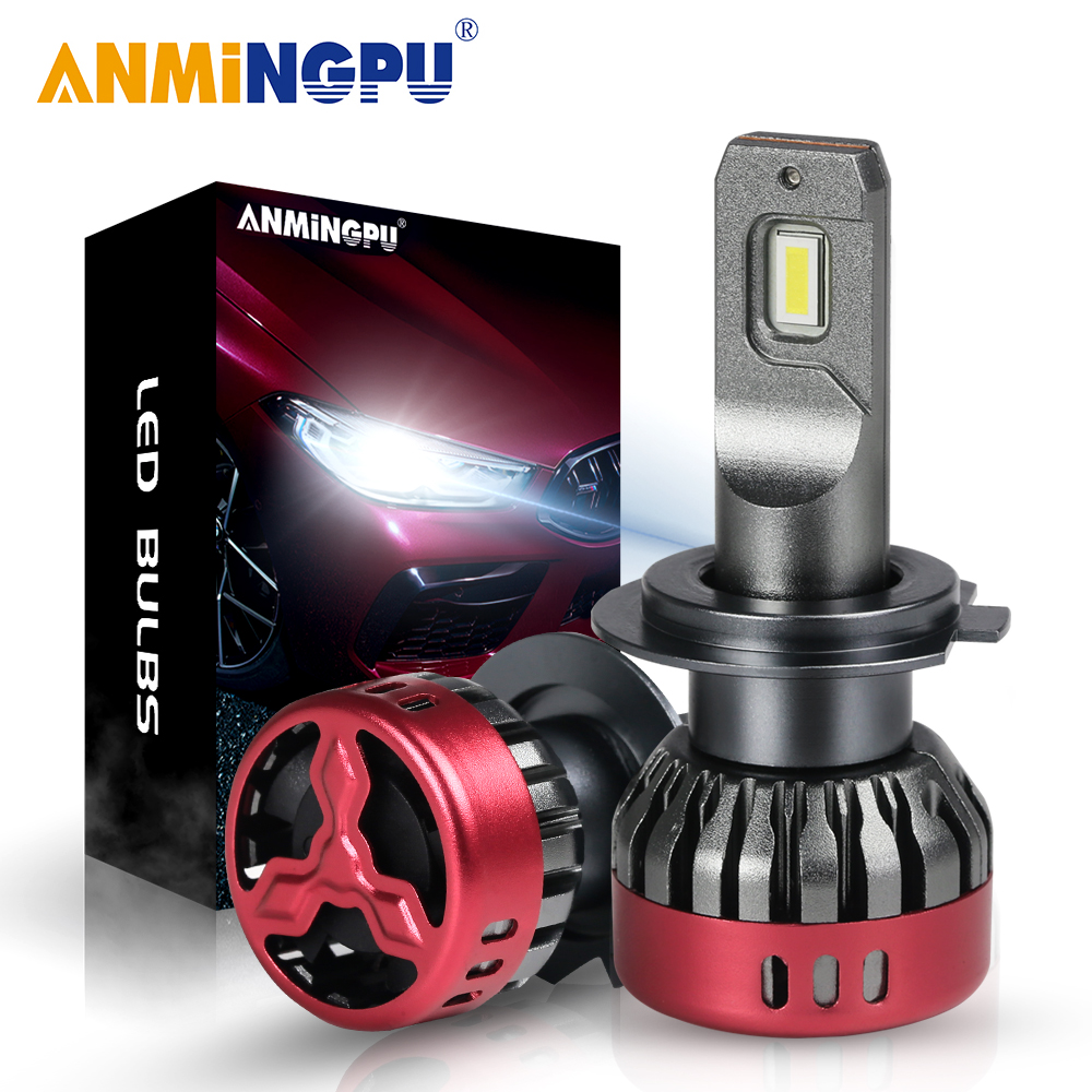 ANMINGPU H7 светодиодные лампы для автомобильных фар H4 H1 9005 HB3 9006 HB4 светодиодные лампы H11 H8 H9 9012 HIR2 светодиодные фары 12000 мл 56 Вт CSP 6500K