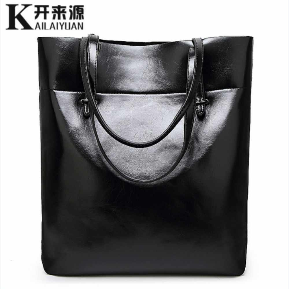 100% Kulit Asli Wanita Handbags 2019 New Fashion Sederhana Bahu Diagonal Tas Kasual Messenger Bahu Tas