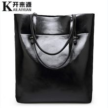 100% Kulit Asli Wanita Handbags 2019 New Fashion Sederhana Bahu Diagonal Tas Kasual Messenger Bahu Tas(China)