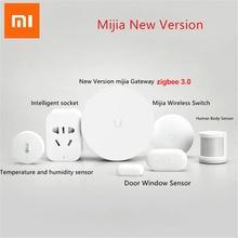 Xiaomi Sensor mijia para puerta y ventana inteligente, Sensor de cuerpo humano inalámbrico, con humedad, enchufe Zigbee D5