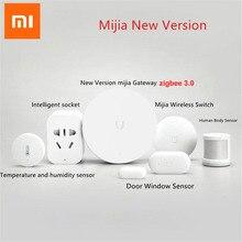 Xiaomi mijia חכם בית ערכות Gateway Hub דלת חלון חיישן אנושי גוף חיישן קוביית אלחוטי מתג לחות Zigbee תקע D5