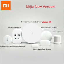 Xiaomi mijia akıllı ev kitleri ağ geçidi Hub kapı pencere sensörü İnsan vücudu sensörü küp kablosuz anahtarı nem Zigbee fiş D5