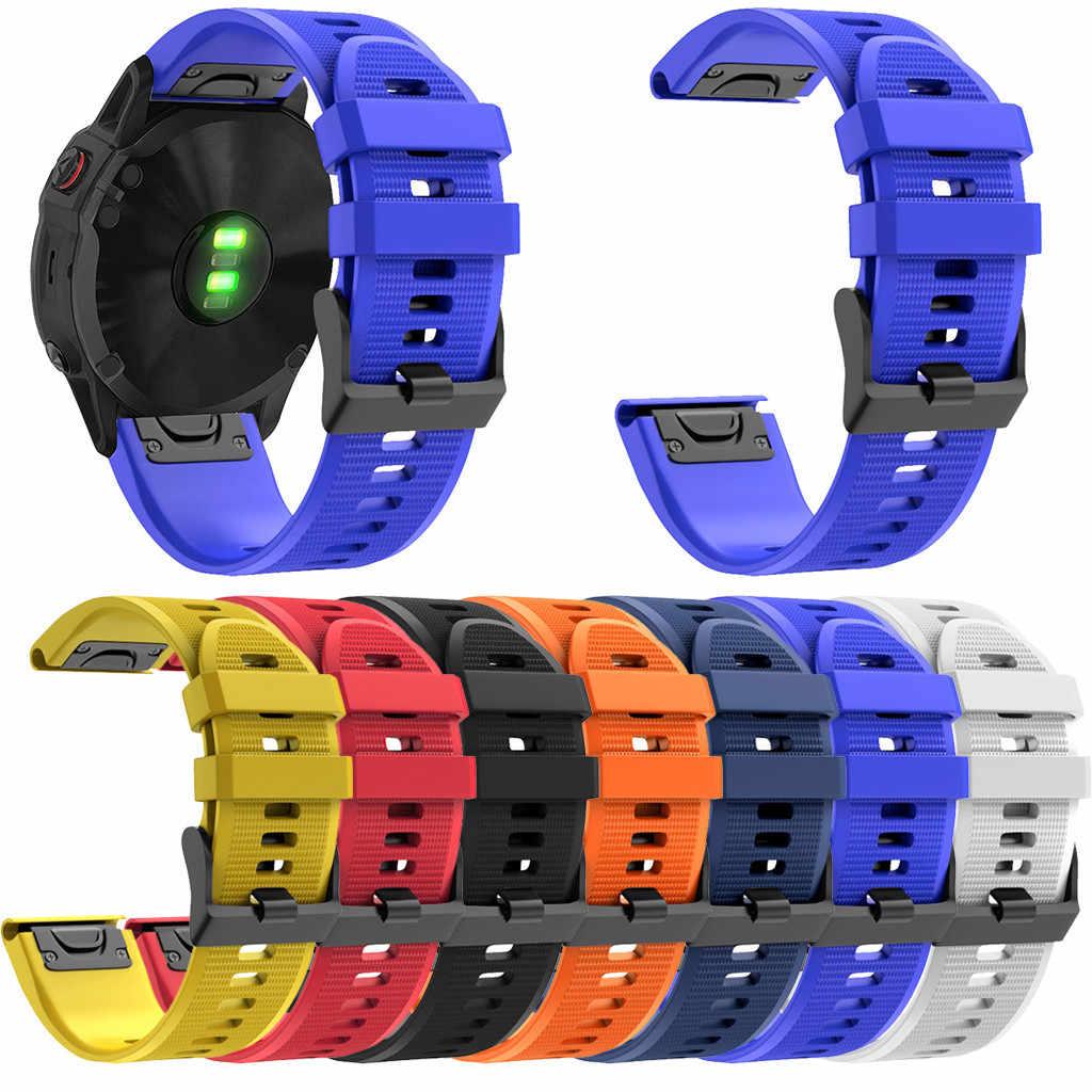 22mm silicone substituição pulseiras para garmin fenix 6/fenix 6 pro plus pulseiras de montre en silicone 2020