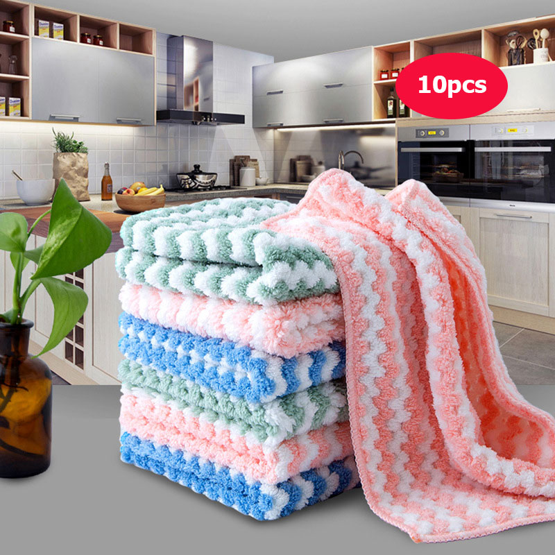Diplomatic Kitchen Anti-grease Wiping Rags Microfiber Wipe Cleaning Cloth Home Washing Dish Multifunctional Cleaning Tools