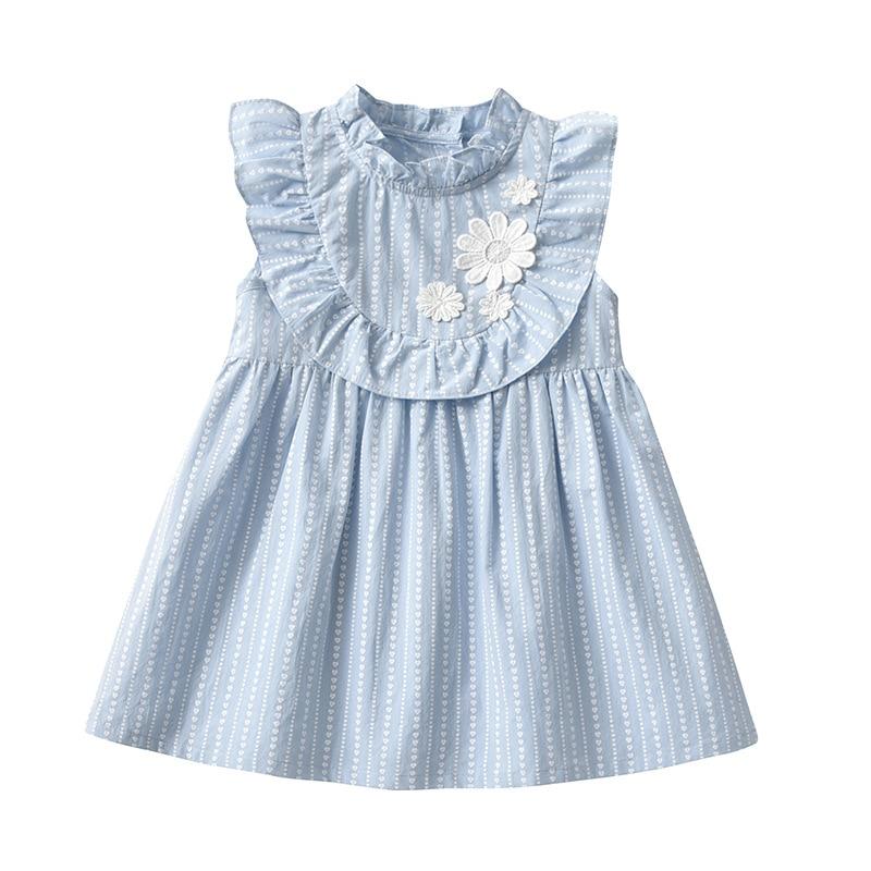 Детская одежда бренда Yg, юбка для девочки, летнее однотонное свежее платье, юбка принцессы с цветами любви для девочки, новинка 2021