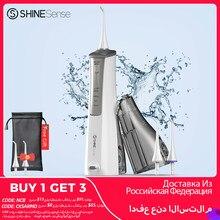 ShineSense Oral irrigateur eau Flosser dentaire blanchiment des dents nettoyant Rechargeable avec étui de voyage