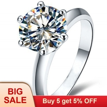 Hot Solitaire 2ct AAAAA zircon cz 925 Sterling silver Women engagement Wedding Band Ring Sz 4-10 Gift