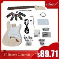 Aiersi Brand Custom DIY ST Style Electric Guitar Kits Full Accessories Model EK 001