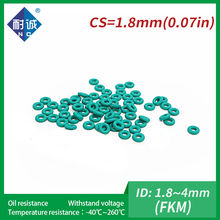 Green FKM Rubber-Ring O-Ring-Seals-Thickness Fuel-Washer 5pc/Lot