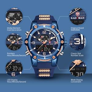 Image 2 - KADEMAN Warterproof Watch Sports Silicone Mens Watches Top Brand Luxury Clock Male Business Quartz Watch Men Relogio Masculino