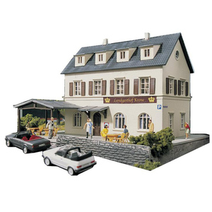 Abs Assemble New HO Scale 1:87 Train Model Town Hotel Architectural Model Railway Sand Table Scene Matching Diorama Layout