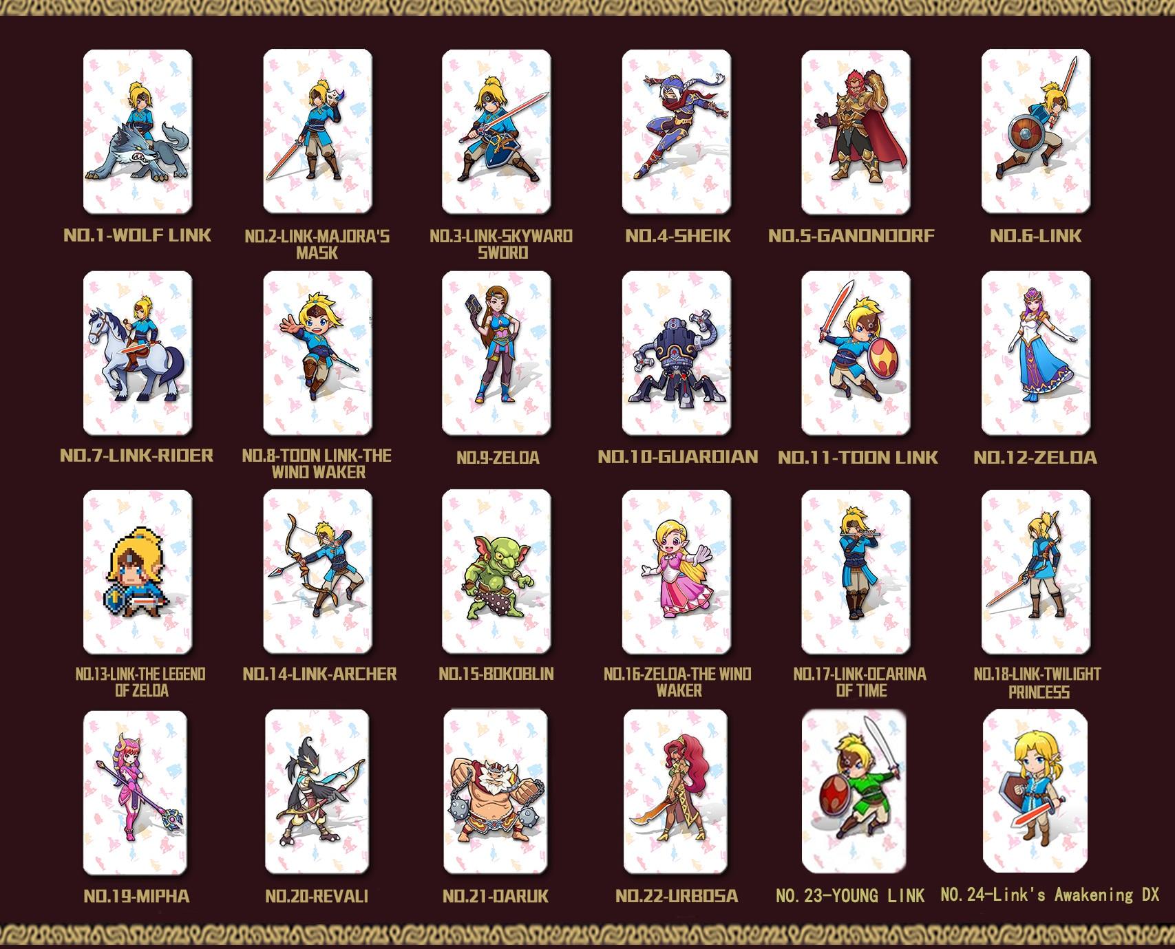 Image 5 - طقم كامل 24 قطعة بطاقة أميبو لأسطورة زيلدا أنفاس أوف وايلد مجموعة كاملة-في بطاقات التحكم في الدخول من الأمن والحماية على AliExpress