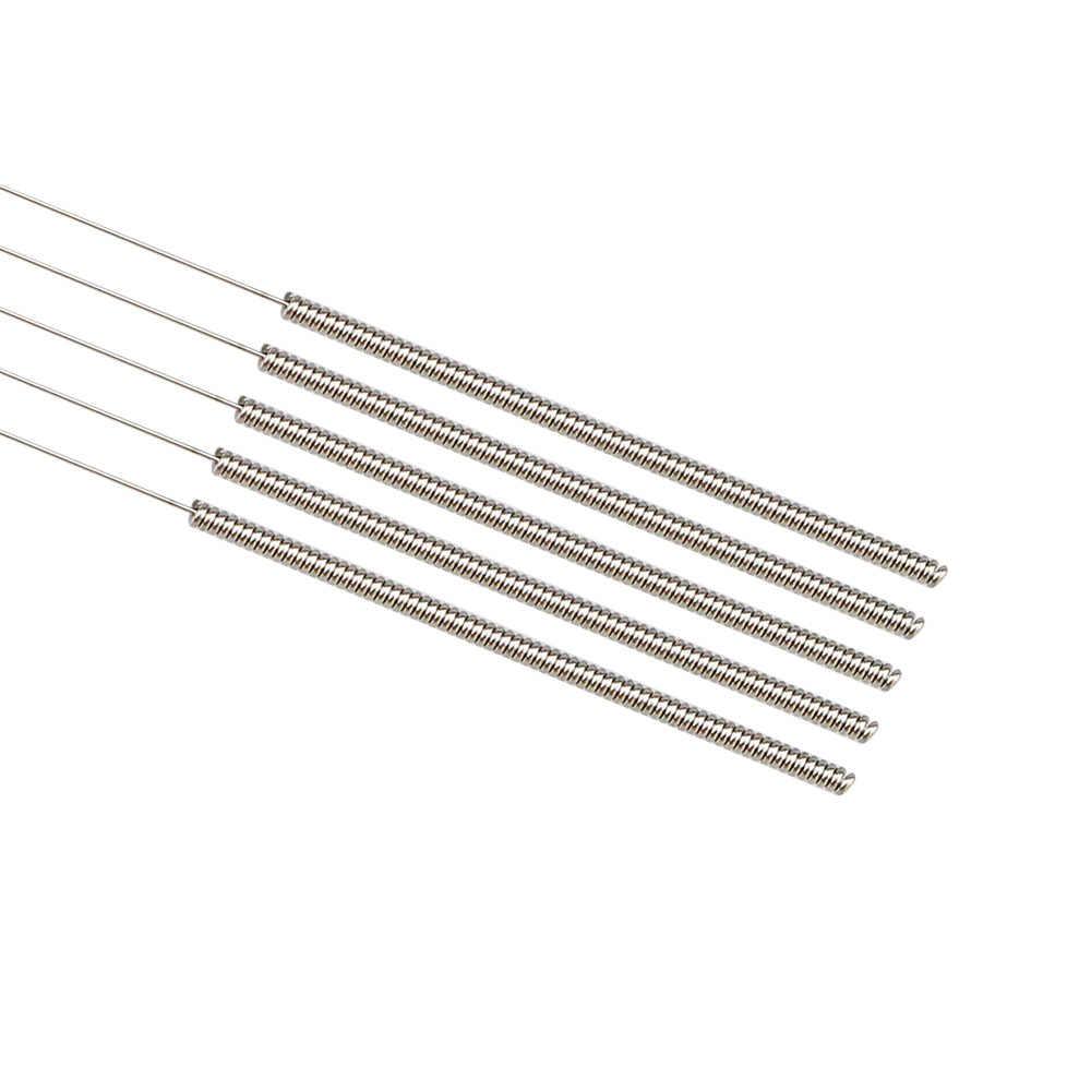 5 pçs de aço inoxidável limpeza agulha 0.15mm 0.2mm 0.25mm 0.3mm 0.35mm 0.4mm mm parte broca para peças de impressoras 3d bocal v6