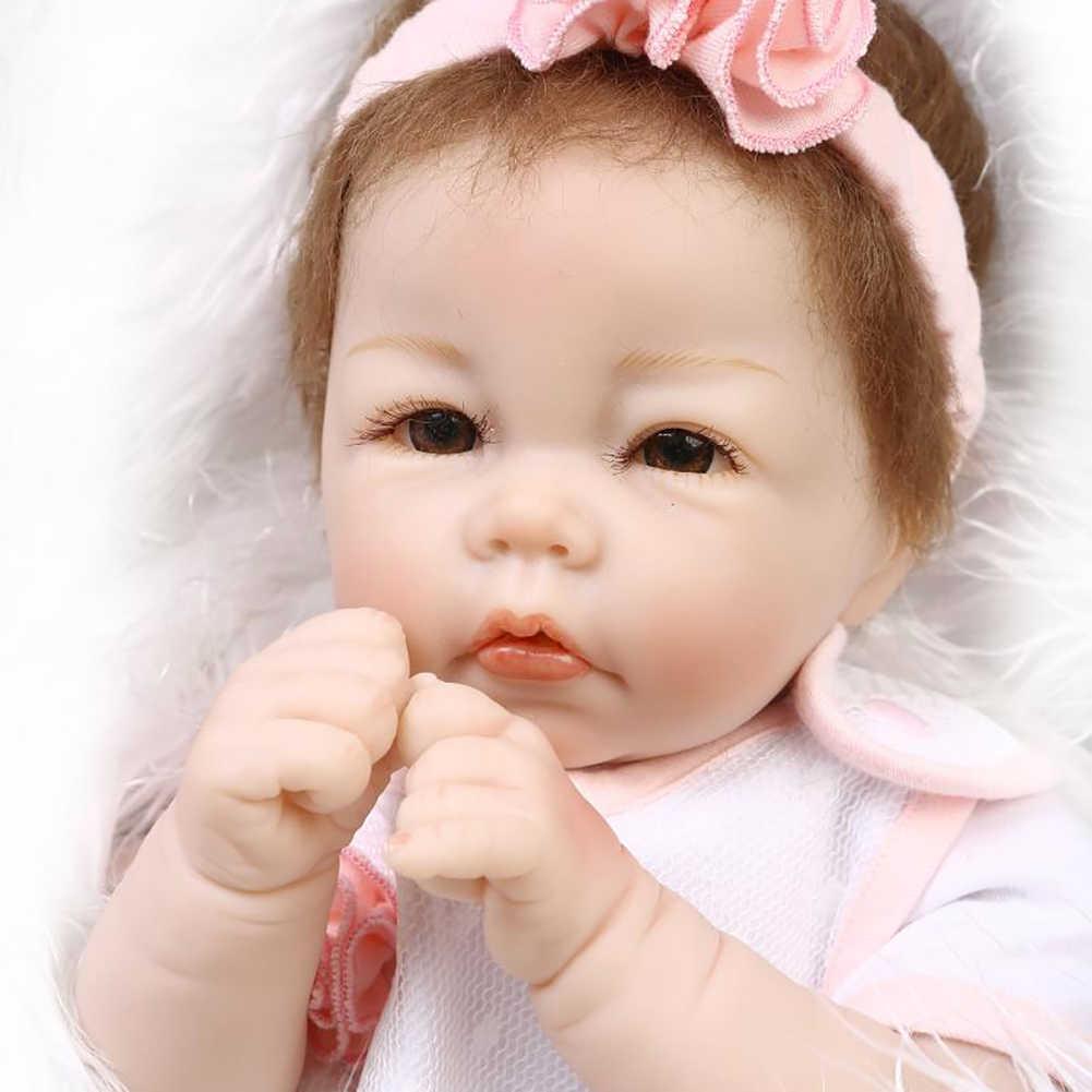 50cm Realistische Pasgeboren Baby Nieuwe Meisje Vinyl Siliconen Rollenspel Reborn Speelgoed Nieuwigheid