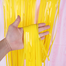 2M 3M Wedding Backdrop Stand Boy Girl Birthday Party Decorations Adult Mariage Fringe Window Door Curtain Widen Tinsel Drapes