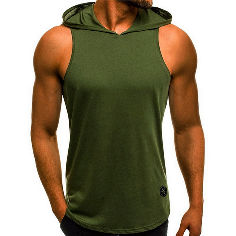 Mens Sleeveless Hoodie Bodybuilding Workout Tank Tops New Men Muscle Fitness Shirts Male Loose Jackets Gyms Singlet 2019