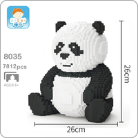 Xizai 8036 Cartoon China Bear Cat Panda Animal Pet 3D Model DIY Mini Micro Building Blocks Bricks Assembly Toy 26cm tall no Box