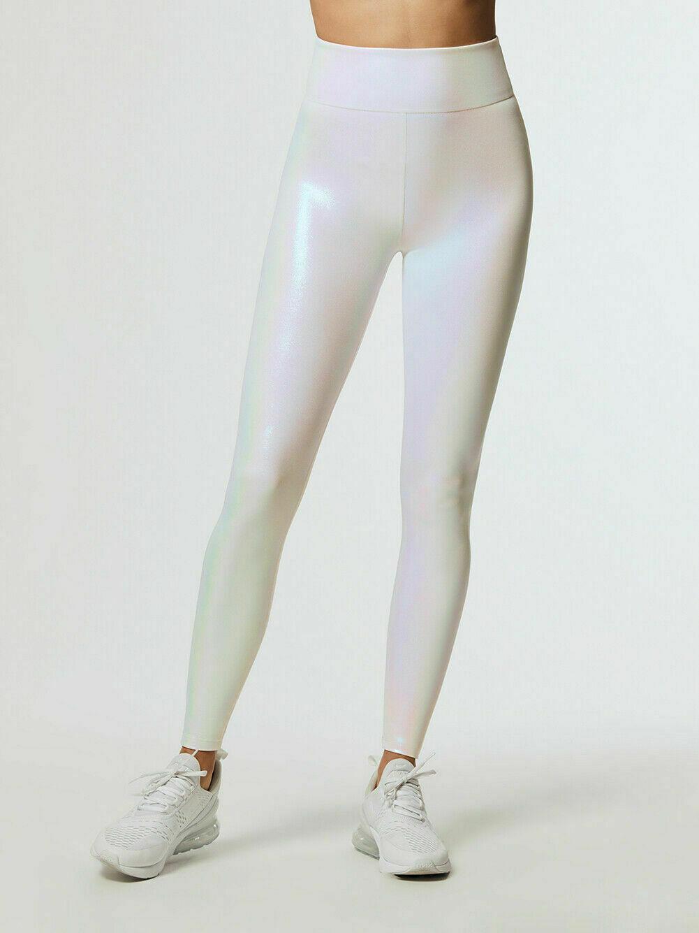 Black Leather Leggings Skinny Pencil Pants Women High Waist Stretch Slim Fashion Blue White PU Leather Pants