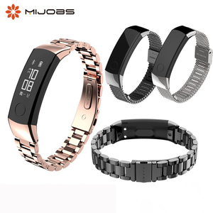 Image 1 - Watch Strap Honor band 3 Bracelet for Huawei Honor 3 Band Watch Band Wristband Stainless Steel Bracelet for Huawei 3 Honor Band