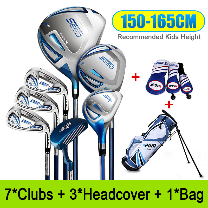 Golf Club Sets for 120-165cm Height Boy Kids Junior Golf Club Child Learning Iron Carbon Rod  Putter Headcover Bracket Bag 6