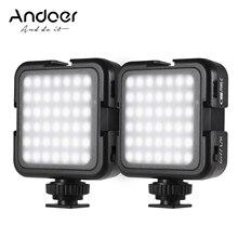Andoer LED أضواء الفيديو 42 قطعة الخرز ضوء سطوع عكس الضوء 6000K مستقرة اللون التصوير الإضاءة للكاميرا سوني DSLR