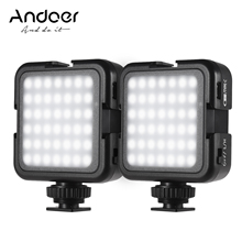 Andoer LED Video Lights 42PCS Light Beads Dimmable Brightness 6000K Stable Color Photographing Lighting for Sony DSLR Camera
