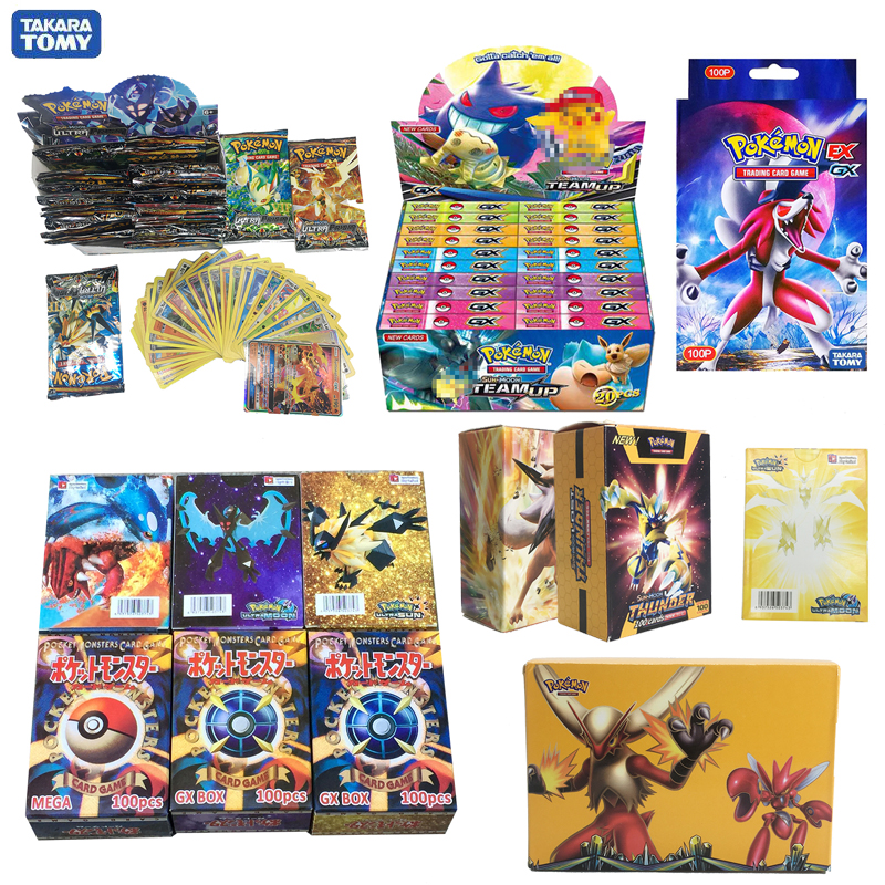 Takara Tomy PTCG Pokemon Cards GX EX MEGA  Flash Card Sword Shield Sun Moon Card Collectible Gift Children Toy