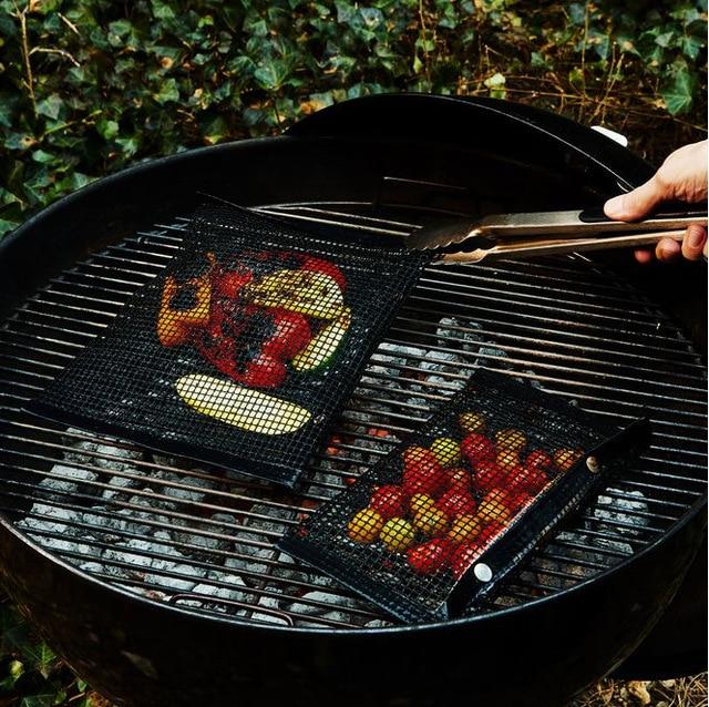 2 Sizes Non Stick Heat Resistance BBQ Mesh Grilling Bag 1