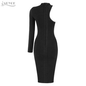 Image 5 - ADYCE 2019 nowe letnie kobiety jedna opaska na ramię sukienka suknie wieczorowe w stylu gwiazd seksowna zielona czarna Bodycon sukienka klubowa Vestido