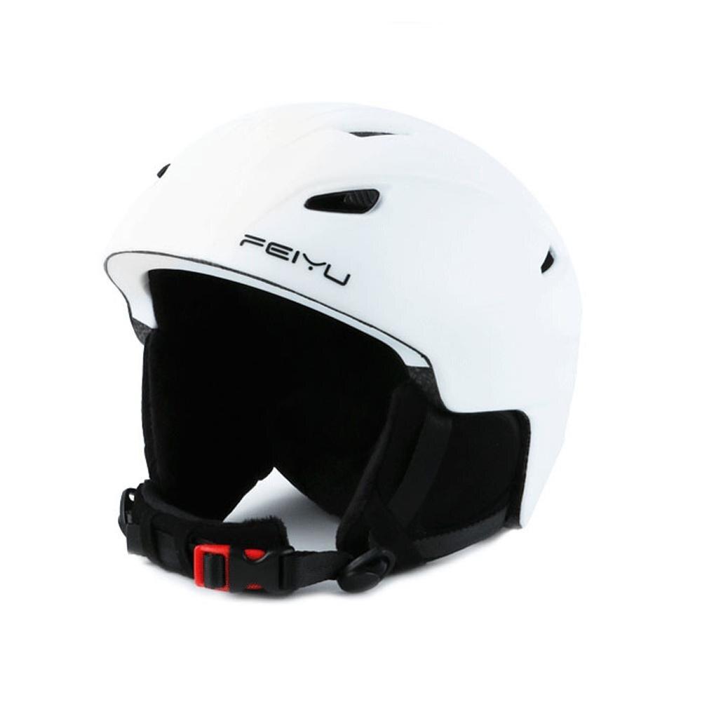 Men Women Ski Helmet Skiing Snow Safety Skateboard Snowboard Helmet Adjustable Protective Outdoor Skating Sports Helmet White