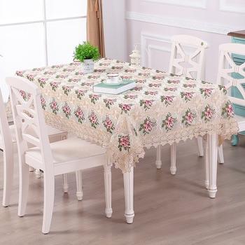 Mantel de encaje Pastoral, mantel de mesa bordado Floral de lujo para casa, Hotel, banquete, fiesta, fundas multifuncionales, funda de Piano